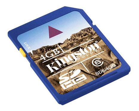 Kingston 8GB SDHC card