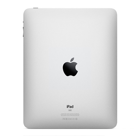 Apple iPad from the back.